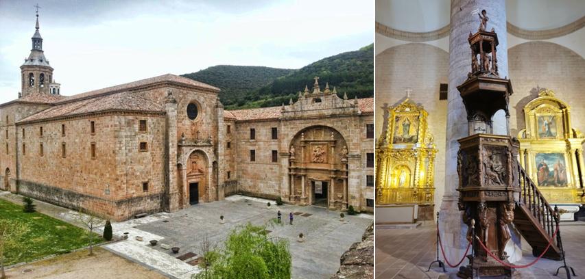 Marino y el púlpito del Monasterio de Yuso